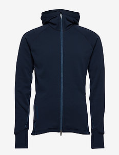 M's Power Houdi trueblack/trueblack S - mittlere lage aus fleece - blue illusion