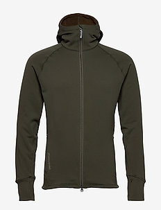 M's Power Houdi trueblack/trueblack S - mittlere lage aus fleece - willow green