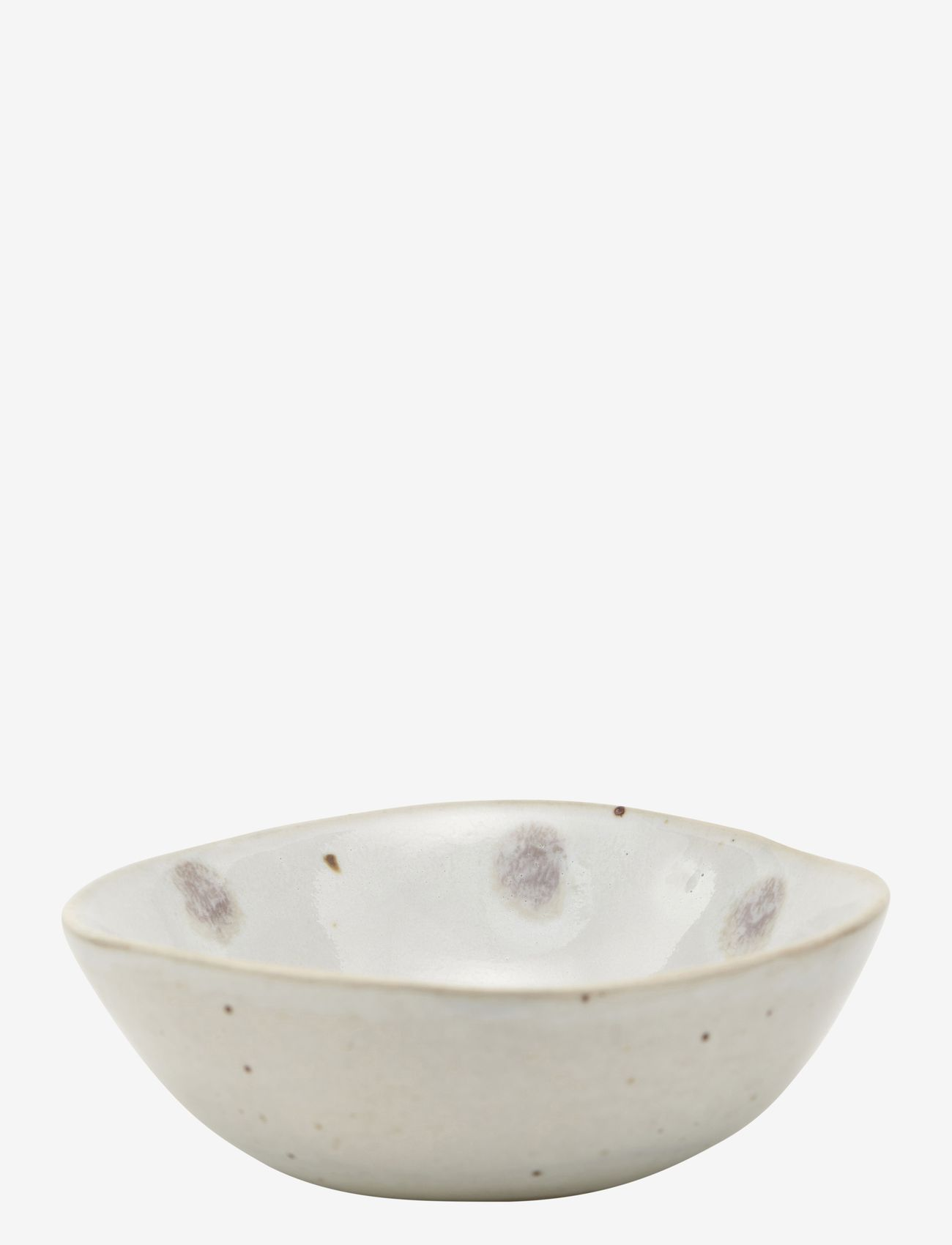 house doctor - Dots Bowl - tarjoilukulhot - white w. green dots - 0