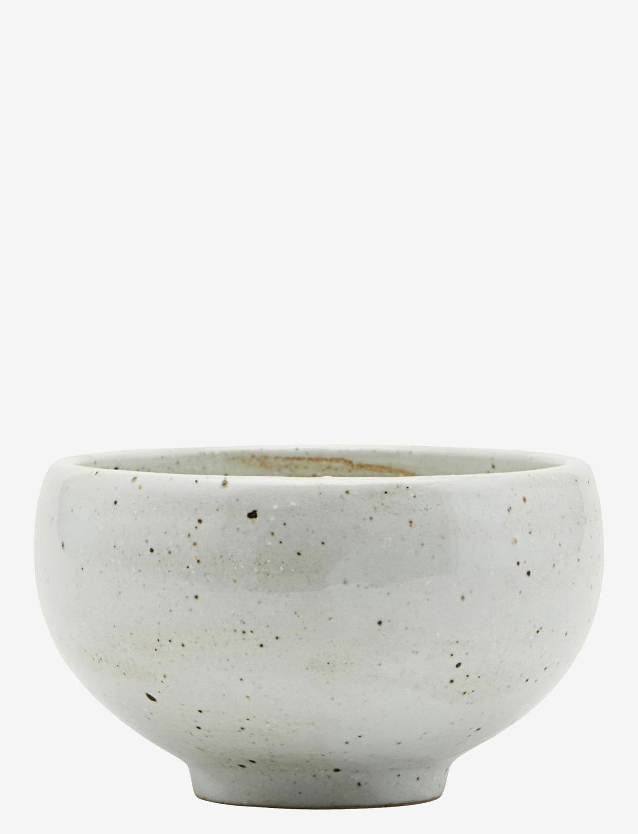 house doctor - Made Bowl - tarjoilukulhot - ivory/black - 0