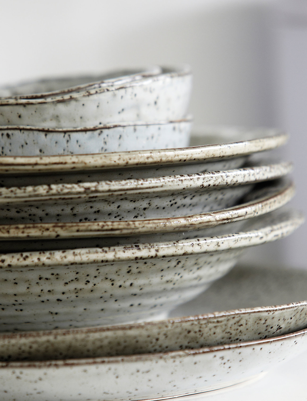 house doctor - Rustic Cake plate - serveringsfat - grey/blue - 1