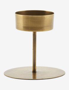 Anit Tealight holder - lyslykter - antique brass