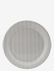Stribe 01 Paper plate - light grey