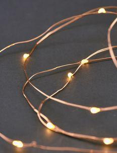 String lights - advents & julebelysning - copper