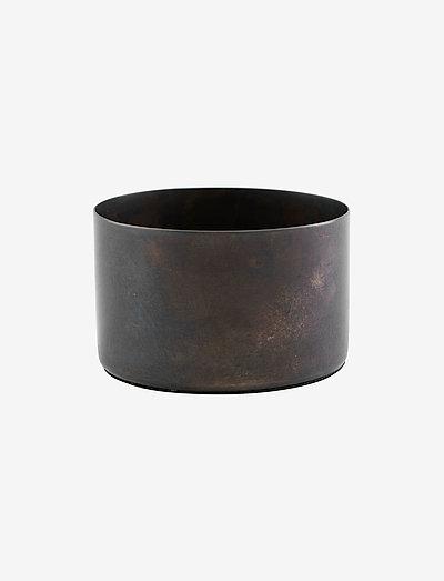 Define Tealight holder - lysestaker & stearinlys - antique brown
