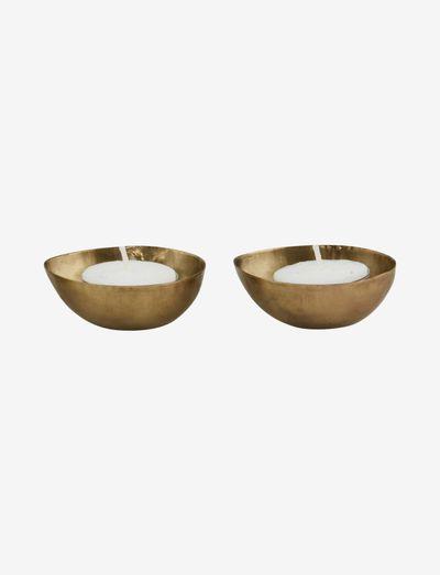 Egg Tealight holder - lyslykter - brass plated