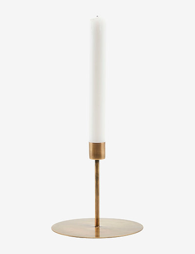 Anit Candle stand - lysestaker - antique brass