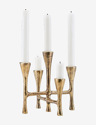 Tristy Candle stand - lysestaker - brass finish