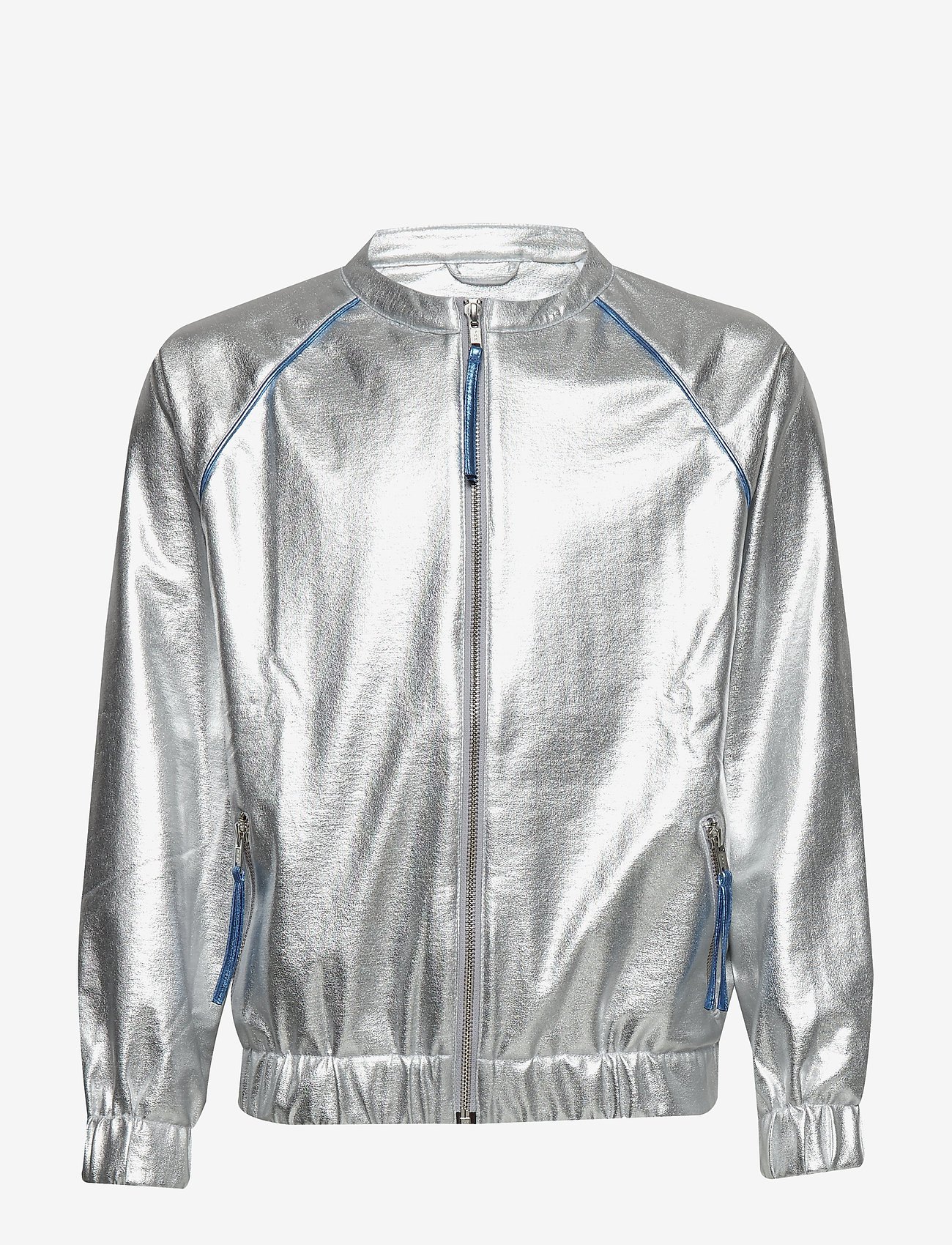 How to kiss a frog - WINNER jacket - silver faux leather blue pipe
