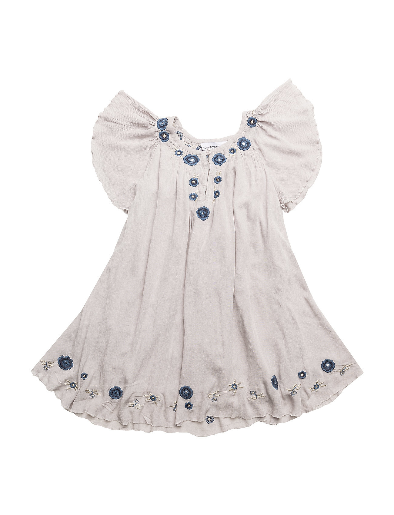 How to kiss a frog FORMA Dress - Grey embroidery