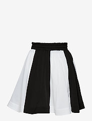 How to kiss a frog - wind skirt - skirts - off white/black panel - 1