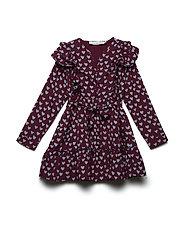 NAOMI dress - WINE HEART