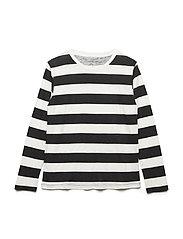 stripe T - BLK/OFF WHITE