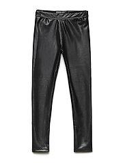 Slim leggings - FAUX LEATHER BLK