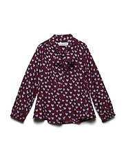 POPPY Blouse - WINE HEART