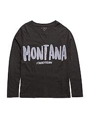 T long sleeve Montana - BLACK
