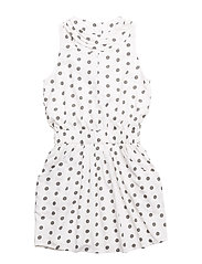 POKI DRESS - White dot