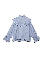 MAZI Blouse - BLUE STRIPE SMALL