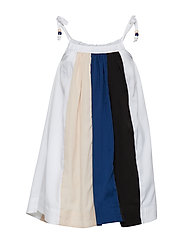 CONI dress - BLACK/POWDER/OFFWHITE/BLUE