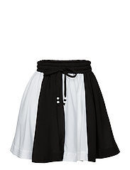 wind skirt - OFF WHITE/BLACK PANEL