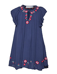 FORMA dress - BLUE WITH EMBROIDERY