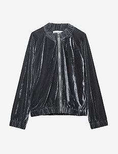 BELLA jacket - GREY VELVET