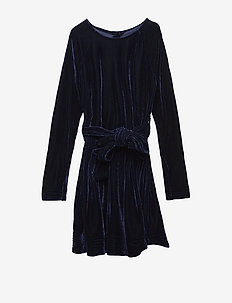 ADELE dress Velvet - VELVET NAVY