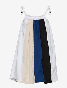 CONI dress - BLACK/POWDER/OFFWHITE/BLUE