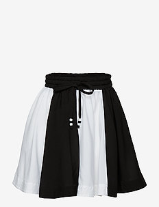 wind skirt - OFF WHITE/BLACK PANEL