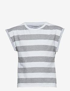 Cut T stripe - WHITE/GREY STRIPE