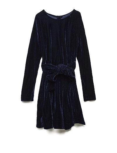 ADELE dress Velvet - VELVET NAVY