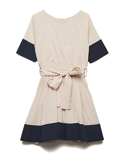 SIONA DRESS - POWDER W NAVY STRIPE