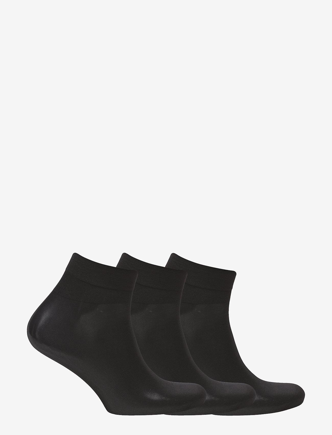 Hudson - SIMPLY 20 3-PACK - tavalliset sukat - black - 1