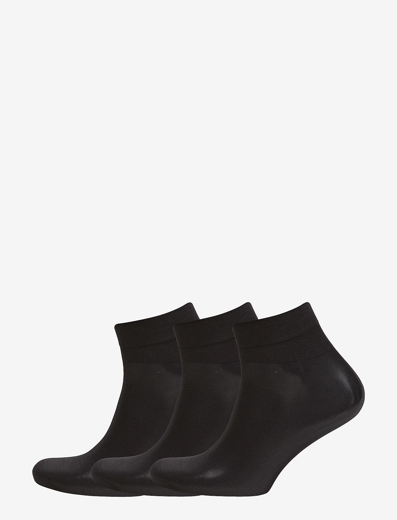 Hudson - SIMPLY 20 3-PACK - tavalliset sukat - black - 0