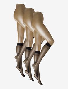 SIMPLY 20 3-PACK - knæstrømper - black