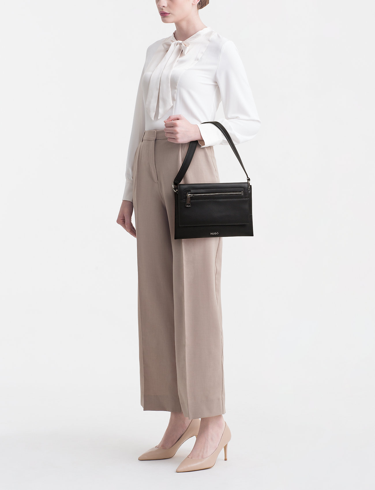 HUGO Hoxton Shoulder Bag - BLACK
