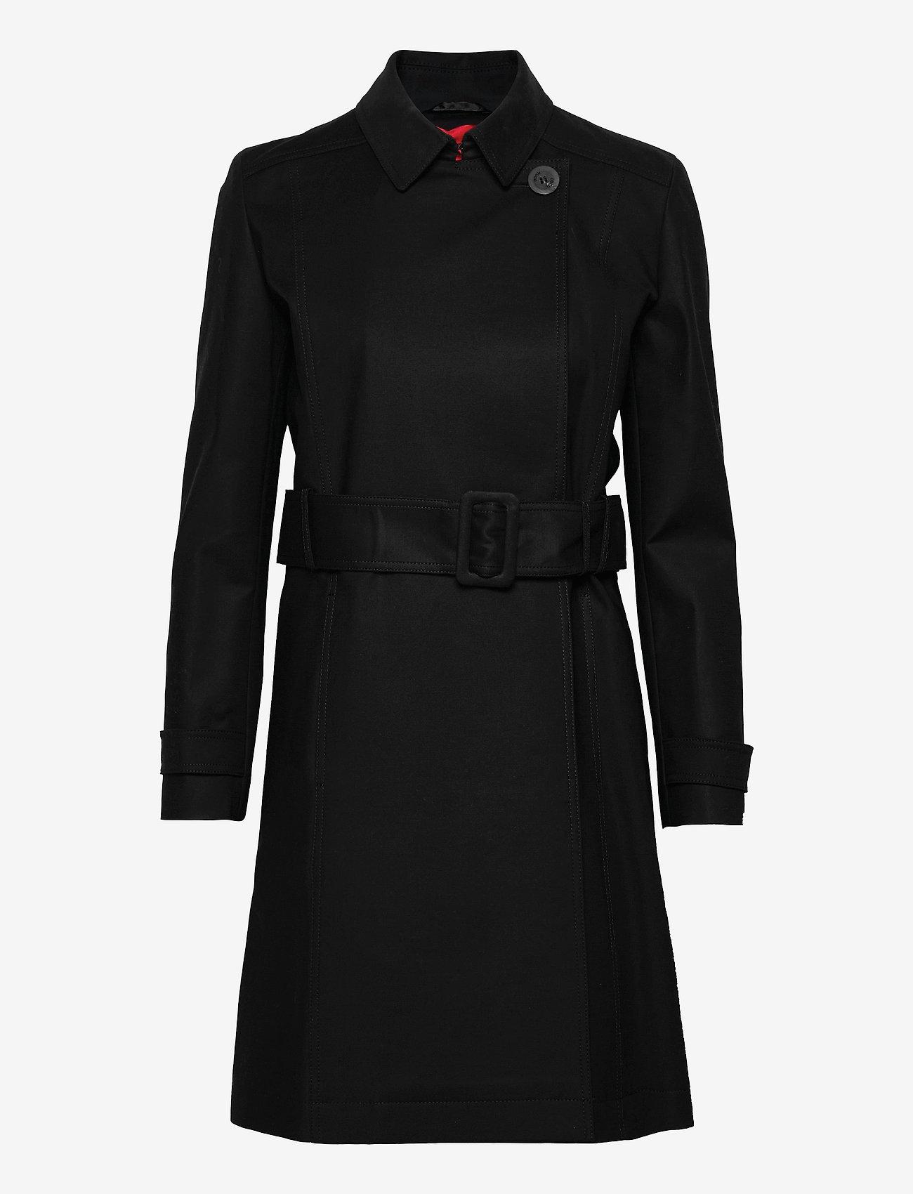 HUGO - Makia-1 - trenchcoats - black - 0