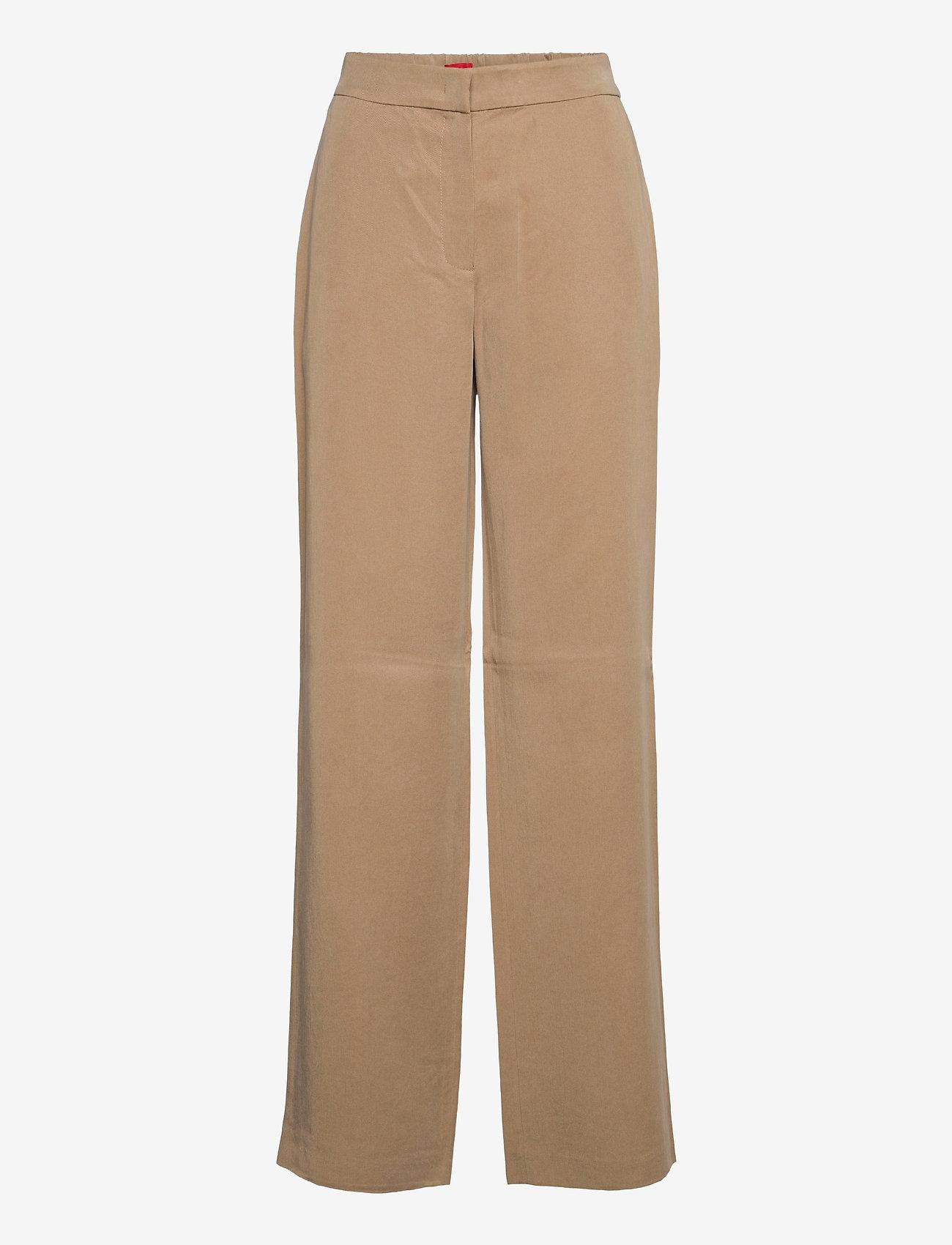 HUGO - Hibari-1 - pantalons larges - light beige - 0