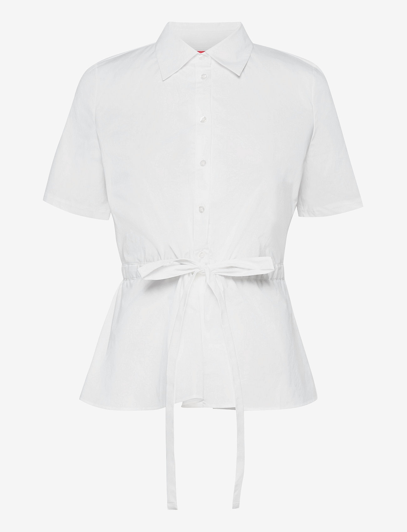 HUGO - Ezina - blouses à manches courtes - white - 0