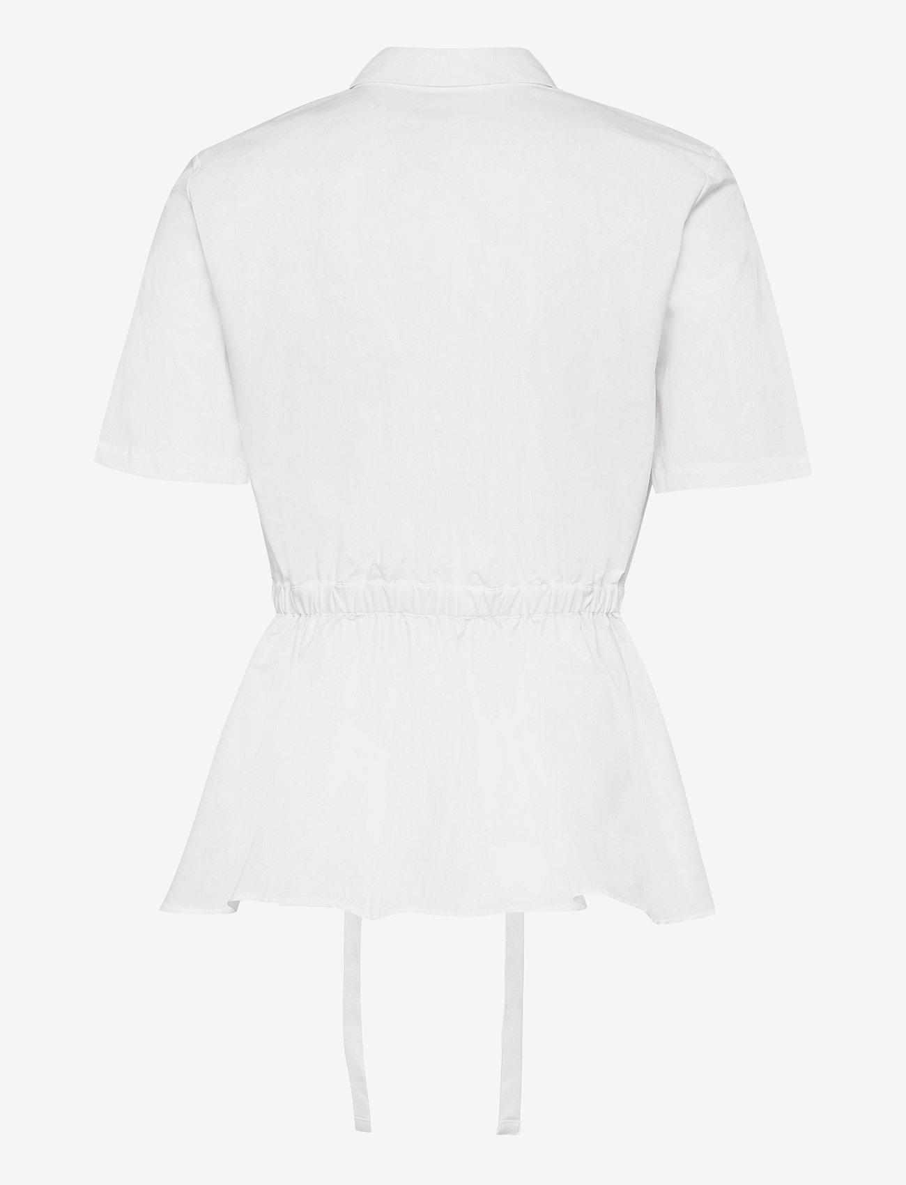 HUGO - Ezina - blouses à manches courtes - white - 1