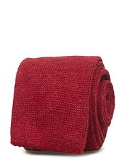 Tie 6 cm knitted - BRIGHT RED