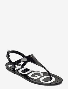 Emma Flat Sandal - matalat sandaalit - black