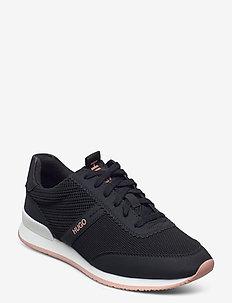Adrienne_LaceUp_knit - niedrige sneakers - black