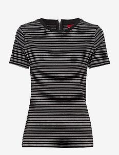 Dalitas - stribede t-shirts - black