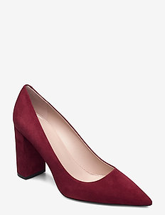 Ines Chunky Pump 85-S - klassiske pumps - medium red