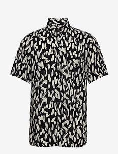 Ekilio - kortærmede skjorter - black
