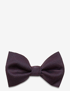 Big bow tie - butterflies - light/pastel red