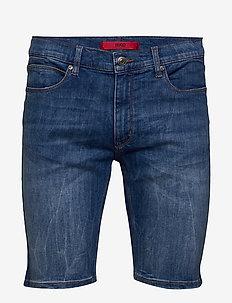 HUGO 708-S 193_DA - jeans shorts - bright blue