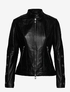 Lisaka - læderjakker - black