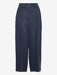 Hakisa - bukser med brede ben - dark blue